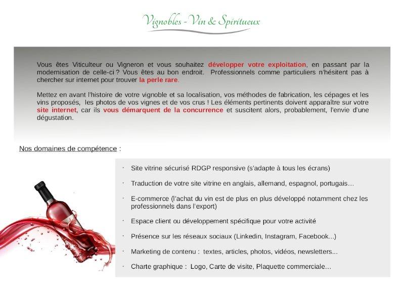 Site web vigneron